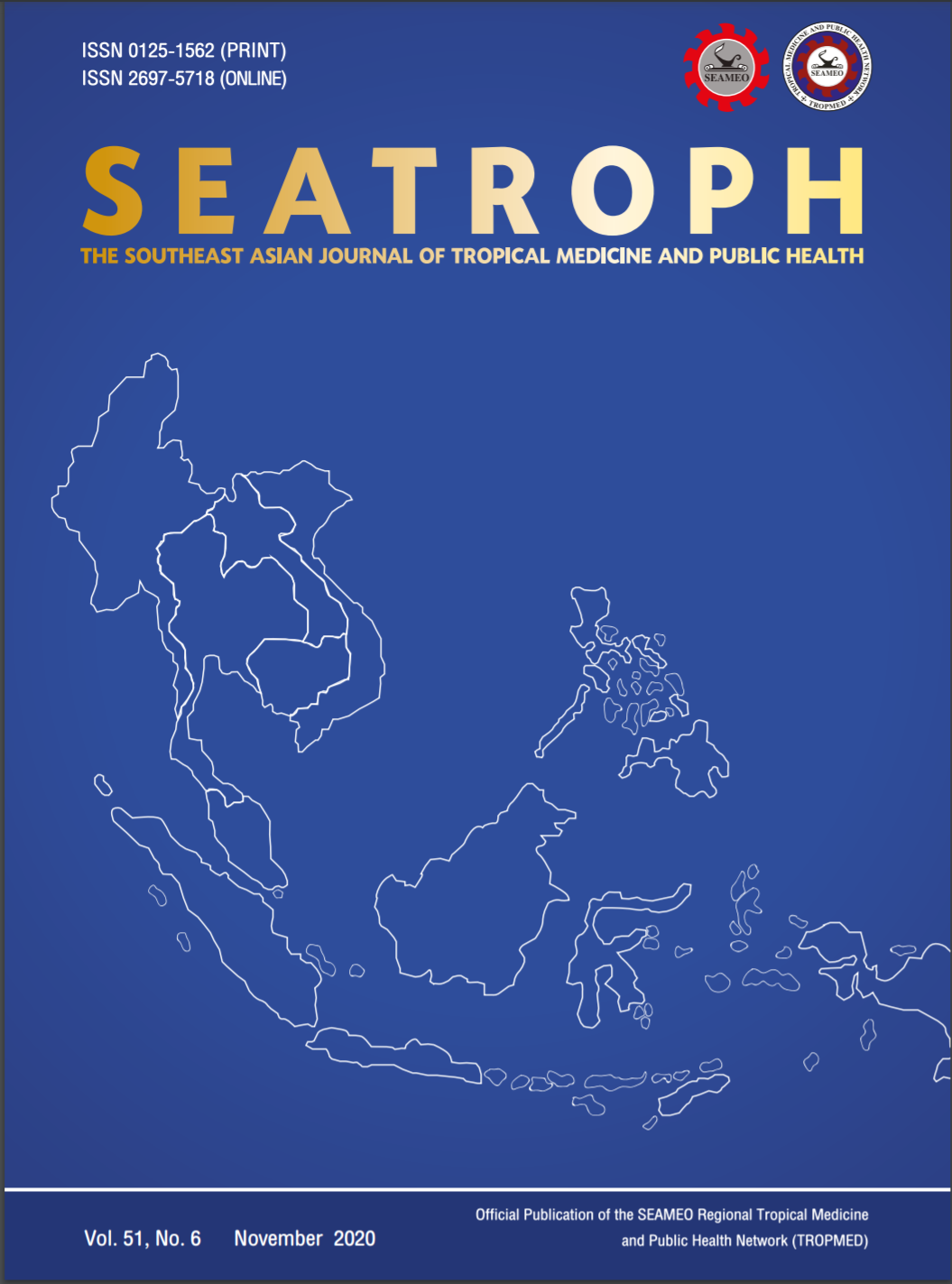 View Vol. 51 No. 6 (2020): THE SOUTHEAST ASIAN JOURNAL OF TROPICAL MEDICINE AND PUBLIC HEALTH