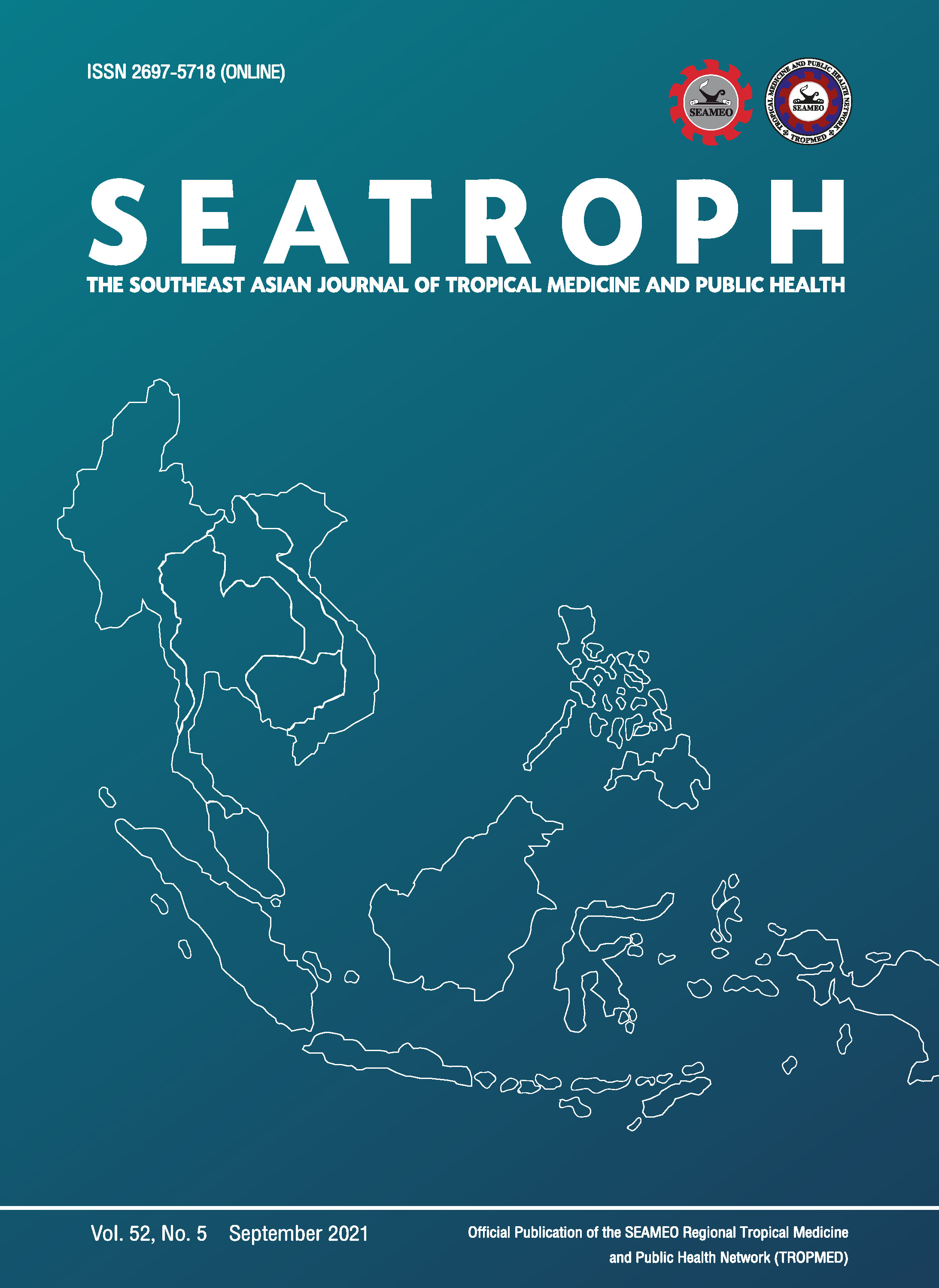 View Vol. 52 No. 5 (2021): THE SOUTHEAST ASIAN JOURNAL OF TROPICAL MEDICINE AND PUBLIC HEALTH