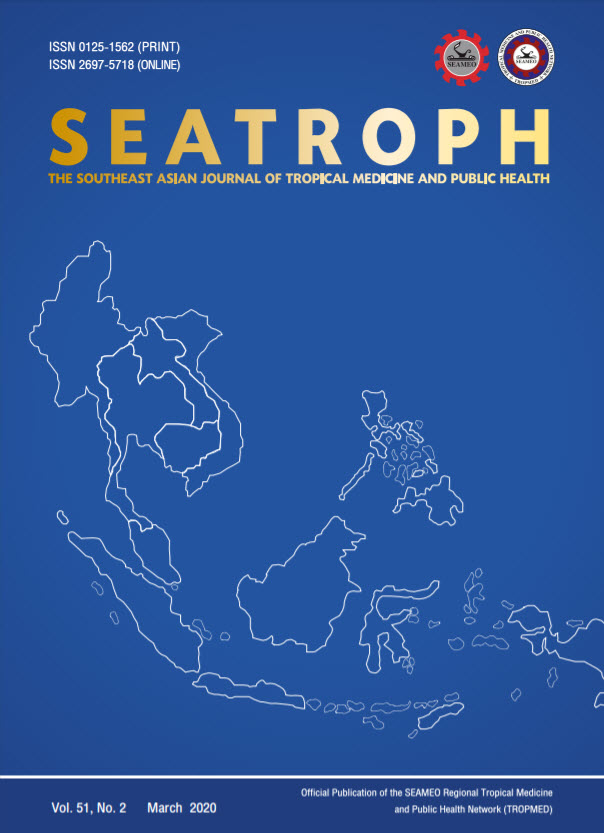View Vol. 51 No. 2 (2020): THE SOUTHEAST ASIAN JOURNAL OF TROPICAL MEDICINE AND PUBLIC HEALTH